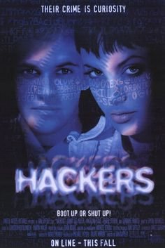 Hackers , starring Jonny Lee Miller, Angelina Jolie, Jesse Bradford, Matthew Lillard. A young boy is arrested by the US Secret Service for writing a computer virus and is banned from using a computer until his 18th birthday... #Action #Crime #Drama #Thriller