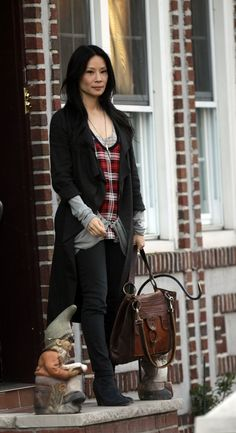 Grunge chic: Lucy Liu in Elementary More