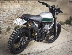 Honda NX650 Dominator scrambler is the creation of Octopus Soul bikes from Barcelona Spain.