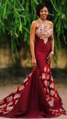 Burgundy Evening Dresses Long Mermaid One Shoulder Evening Formal Dress Vestidos De Noiva Long Mermaid Women Evening Dress Long(China) African Prom Dresses, African Wedding Dress, Cheap Prom Dresses, African Fashion Dresses, African Dress, 50s Dresses, Party Gowns, Prom Party Dresses, Evening Dresses