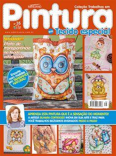 Artesanato - Pintura : COL TRABALHOS EM PINTURA EM TECIDO ESP 035 - Editora Minuano