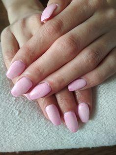 pink glitter nails