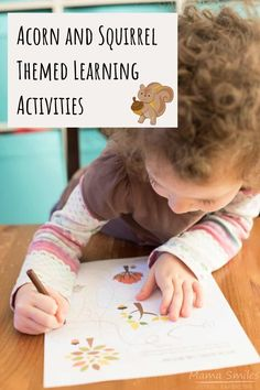 Fun acorn and squirrel themed learning activities for kids - designed to go along with the picture book Scaredy Squirrel. #ece #preschool #kindergarten #picturebooks