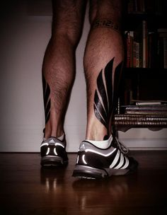 A guy's reward after his second marathon: winged feet