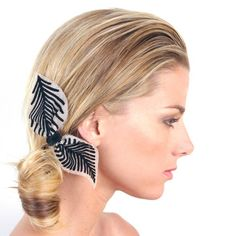 Zebra Bow Comb by By Lilla