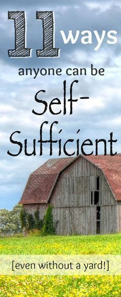 11 ways to be self-sufficient - that anyone can utilize! Whether you live in an apartment or in the country, you can be self-sufficient. #greenliving
