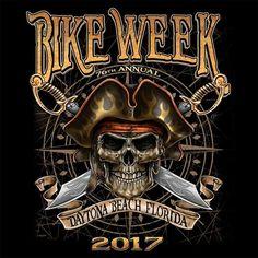 cbad693e5a 2017 Daytona Beach Bike Week Pirate Skull - 76th Anniversary