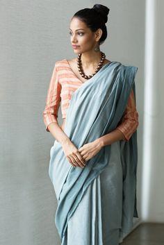 Ash Cloud Saree from FashionMarket.lk