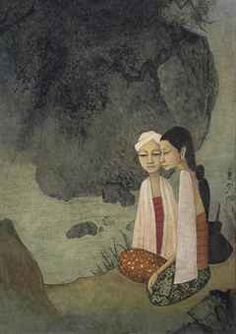 By The River II. Cheong Soo Pieng.
