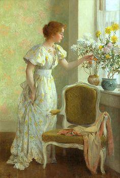 Jones, Frances Coates (1857-1932) - 1890c. Flowers in the Window | by RasMarley