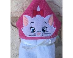 BowsAndClothesDesign on Etsy Towel Embroidery, Machine Embroidery Applique, Embroidery Files, Beaded Embroidery, White Kittens, Applique Designs, Gifts For Girls, Etsy, Hoods