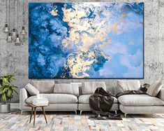 Minimalism Minimalist Art Print Abstract Blue and Gold Unique Wall Art, Modern Wall Art, Large Wall Art, Blue Abstract, Abstract Canvas, Canvas Art, Painting Canvas, Large Canvas Prints, Art Prints