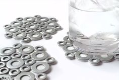 Easy DIY Coasters from Washers www.ArtstoCrafts.com