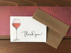 These wine themed thank you notes come in sets of 8 cards with adorable brown bag envelopes, and I love that you can even personalize the cards if you want! Barolo Wine, Order Wine Online, Wine Sale, Wine Bottle Labels, Gifts For Wine Lovers, Wine Delivery, Wine List, Wine Drinks, Recipe Cards