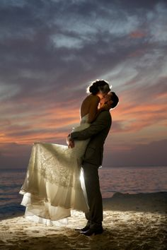 Amazing lighting and what a beautiful shot!! Very cute idea for a destination wedding!