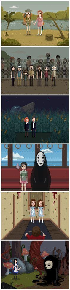 Películas y series de televisión pixeladas. ¿Las reconoces?
