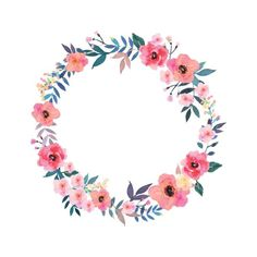 Floral Wreath Watercolor Illustrations, Royalty-Free Vector Graphics & Clip Art