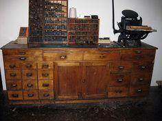 Letterpress Cabinet & Furniture