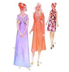 1970s High Waisted Evening Dress Cocktail Dress Pattern