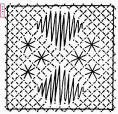 Plus que quelques carrés et le damier sera complet.   Voici le carré n° 25 proposé par Dominique, toujours sur un fond torchon, des araignée... Bobbin Lacemaking, Bobbin Lace Patterns, Lace Jewelry, Needle Lace, Lace Making, Band, Free Pattern, Cross Stitch, Quilts