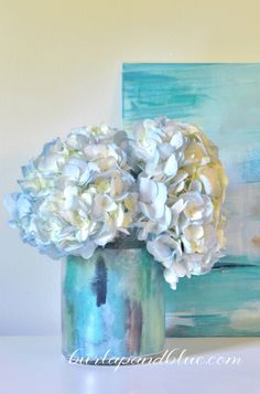 watercolor + Mod Podge vase tutorial