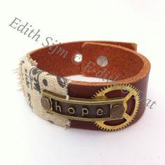 Steampunk armband van EdithEnDat op Etsy