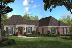 French Country Plan: 1,750 Square Feet, 3 Bedrooms, 2.5 Bathrooms - 041-00066