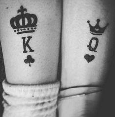 Matching Couple Tattoos Ideas–His & Hers King And Queen Tattoo Matching Couple Tattoos Ideas–His & Hers King And Queen Tattoo, couple tattoo ideas, couple tattoos, matching couple tattoos, Him And Her Tattoos, Love Tattoos, Body Art Tattoos, New Tattoos, Tribal Tattoos, Tattoos For Women, Tattoos For Guys, White Tattoos, Pretty Tattoos