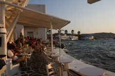 Mykonos: Dazzlingly white and windswept, with superb sandy beaches, blue-domed churches, & windmills. Luxury Villas In Greece, Mykonos Island, Luxury Accommodation, Windmills, Sandy Beaches, Greek Islands, Exploring, Vacation, Table Decorations