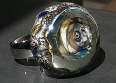 Ringtop Silver wave W&Beads©