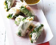 Vietnamese rolls from John Torode are fresh rolls filled with delicious Asian vegetables and dressed with a punchy chilli and shallot dressing
