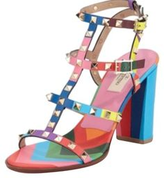 Valentino rainbow sandal , box and dusty bag includes, light wear, please refer to pictures