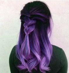 Vivid Hair Color, Hair Color Streaks, Pretty Hair Color, Beautiful Hair Color, Hair Color Purple, Hair Dye Colors, Hair Color For Black Hair, Hidden Hair Color, Light Purple Hair