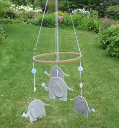 diy mobile. to hang from patio for decoration