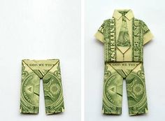 max's money origami trousers