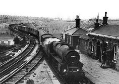 """Parcels from Colne 020868 Borrowed for a """"Then and Now"""" Project, if you are the owner of the copyright and unhappy please contact me and I'll remove it, thanks Diesel Locomotive, Steam Locomotive, Old Train Station, Train Stations, Disused Stations, Steam Railway, Old Trains, British Rail, Steam Engine"""