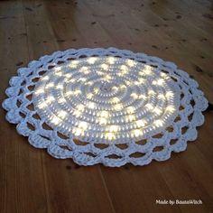 DIY – Virkad matta med ljusslinga | BautaWitch | Bloglovin'