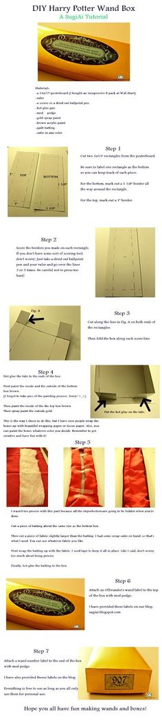 SugiAi: DIY Harry Potter Wand Boxes.