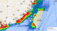Marine Traffic, Oceans, Taiwan, Maps, Sea, Abstract, Artwork, Summary, Work Of Art