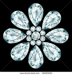 Flower gemstone composition