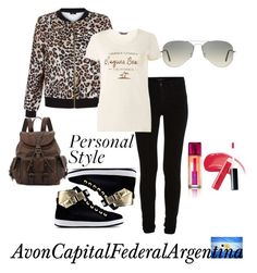 """Personal Style"" by avon-capital-federal-argentina ❤ liked on Polyvore featuring Love Moschino, VILA, New Look, Dorothy Perkins, Frye, Ray-Ban and Avon"