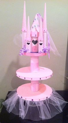Princess Castle cupcake stand by littleizumi on Etsy, $25.00
