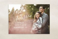 Watercolor Heart Save The Date Postcards