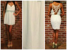 Ivory Cross Back Tank Dress│Andy Boutique womens online shopping www.andyboutique.com