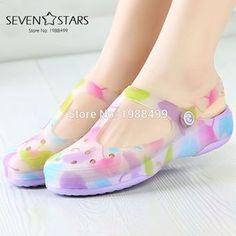 281e955156a5 Beach Print Floral Summer Sandals
