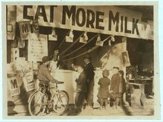 The Milk Booth at the State 4 H Fair at Charleston, W. Va. Oct. 1921 By Lewis Hine