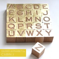 Gold gilded alphabet set by Cabin 7
