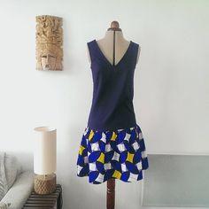 Retour sur la robe #JadeLAP de @louisantoinetteparis offerte à ma soeur pour noël.Tissus @lescouponsdesaintpierre #jecoudspourmafamille #coutureaddict #slowfashion #louisantoinetteparis #wax Ballet Skirt, Couture, Chic, Skirts, Clothes, Instagram, Fashion, Little Dresses, Virginia
