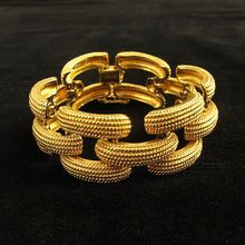 Vintage Textured Gold Tone Link Bracelet By Monet From Jewelry Vintagejewelry