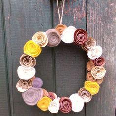 Paper flower hanging decoration wreath £6.99